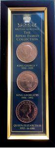 Picture of 3 British Framed Coins Set