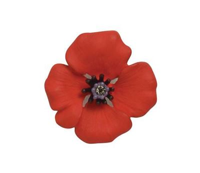 Picture of Passion Poppy Small Stick Pin Brooch 2.5cm diameter
