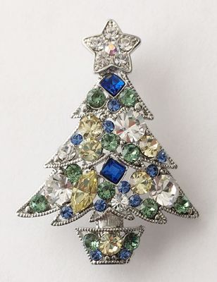 Picture of Blue Tree Brooch 4cm high