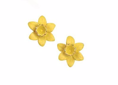 Picture of Daffodil Clip Earrings 1.5cm diameter