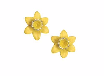 Picture of Daffodil Pierced Earrings 1.5cm diameter