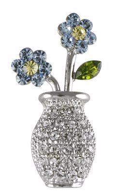 Picture of Forget-me-not  Vase Brooch 3cm high