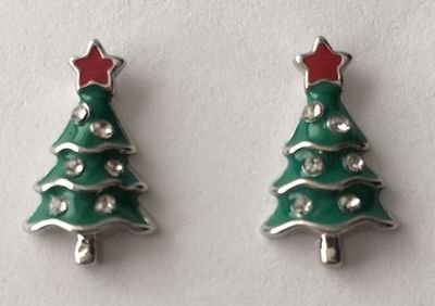 Picture of Green Tree Studs 1.5cm high