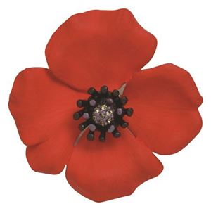 Picture of Passion Poppy Large Brooch 6cm diameter