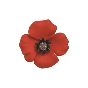 Picture of Passion Poppy Medium Brooch 3.5cm diameter