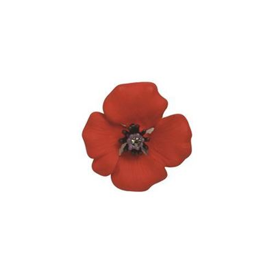 Picture of Passion Poppy Small Brooch 2.5cm diameter