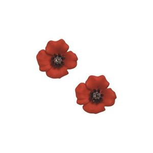 Picture of Passion Poppy Small Clip-on Earrings 1.5cm diameter