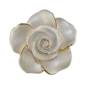 Picture of Rose Head Brooch gold plated