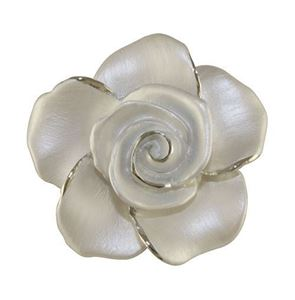 Picture of Rose Head Brooch rhodium plated
