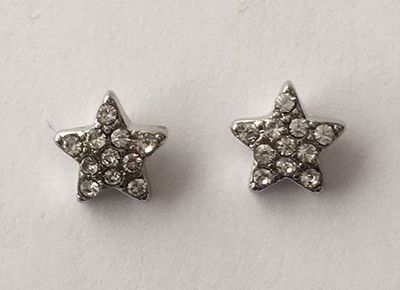 Picture of Silver Star Studs 1cm high