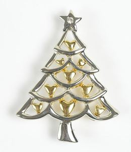 Picture of Silver/Gold Xmas Tree Brooch
