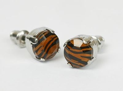 Picture of Tiger Stud Earrings pierced ears only