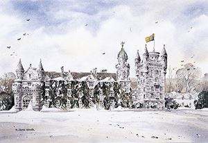 Picture of Late Snow at Balmoral 55cm x 42cm