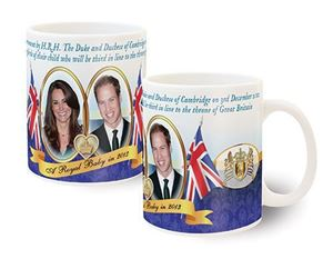 Picture of Royal Baby Announcement Mug (blue)