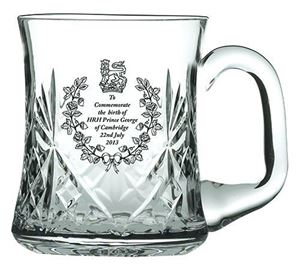 Picture of Royal Scot Cystal Birth of Prince George Tankard