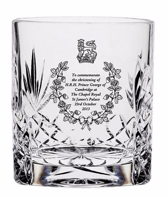 Picture of Royal Scot Cystal Christening Tot Glass