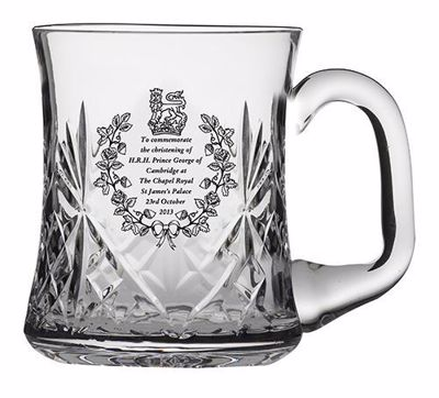 Picture of Royal Scot Cystal Birth of Prince George Christening Tankard