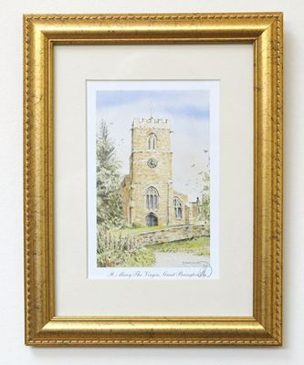 Picture of St Mary the Virgin, Great Brington Framed Print