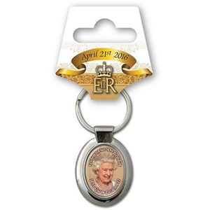 Picture of The Queen at 90 Keyring