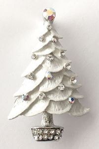 Picture of White Tree Brooch 5cm high