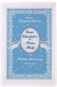 Ulster Weavers Royal Wedding Anniversary Tea Towel