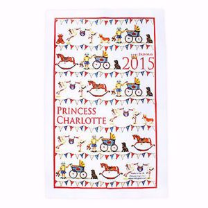 Princess Charlotte commemorative tea towel