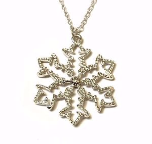 Large Snowflake Necklace