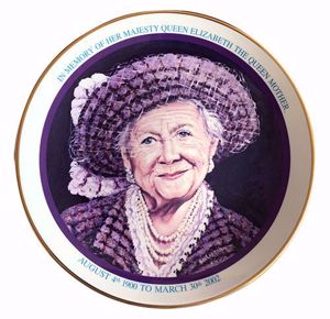 "Picture of Queen Mother Fine Bone China 8"" Plate"